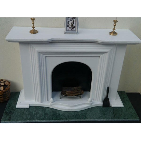 Royal Jade Green Marble Fireplace Hearth Large