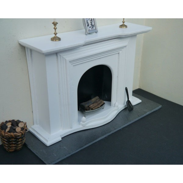 Real Slate Fireplace Hearth. Miniature Real Brick and Stone Products for dolls houses and models.