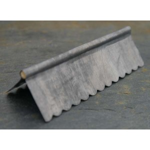 "Roll Topped Ridging Lead - Small Scallop 3"" length"