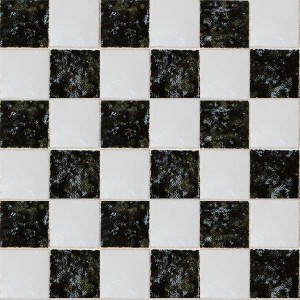 "Black & White 3/8"" Ceramic Tiles - Large Pack"