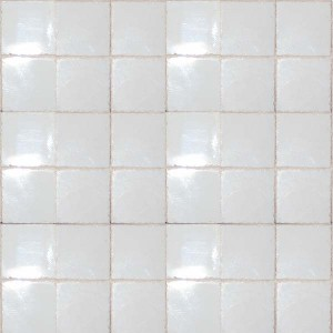 """Clouded White 3/8"""" Ceramic Tiles - Large Pack"""