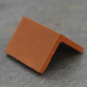 Angled Dirty Red Ridge Tiles - Small Pack of 10