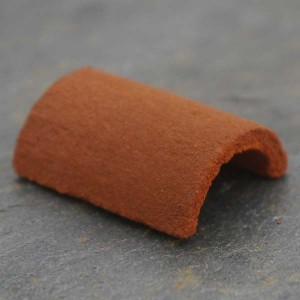 Rounded Dirty Red Ridge Tiles - Small Pack of 10
