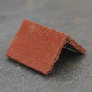 Angled Victorian Red Ridge Tiles - Small Pack of 10