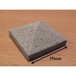 Grey Stone Pier Cappings 35mm sq - Pack of 2