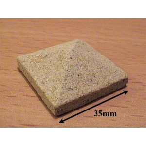 Yellow Sandstone Pier Cappings 35mm sq - Pack of 2