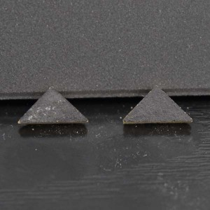 """1/3"""" Charcoal Victorian Tile Triangles - Pack of 10"""